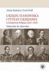Urzędy, stanowiska i tytuły urzędowe w Królestwie Polskim (1815-1915)