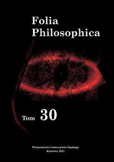 Folia Philosophica. T. 30