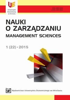 Nauki o Zarządzaniu 2015, nr 1(22)