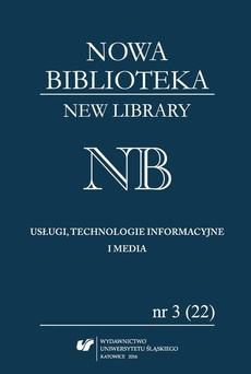 """""""Nowa Biblioteka. New Library. Usługi, technologie informacyjne i media"""" 2016, nr 3 (22) - 09 Nowoczesna technologia – szansa czy zagrożenie dla ochrony dziedzictwa narodowego"""
