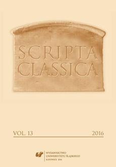 """Scripta Classica"" 2016. Vol. 13"