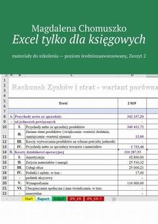 Excel tylko dla księgowych Zeszyt 2