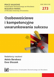 Osobowościowe i kompetencyjne uwarunkowania sukcesu. PN 273