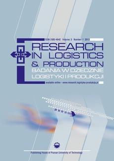 Research in Logistics & Production - Badania w dziedzinie logistyki i produkcji, Vol. 3, No. 1, 2013