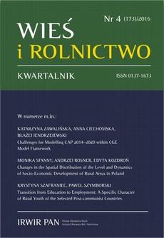 Wieś i Rolnictwo nr 4(173)/2016
