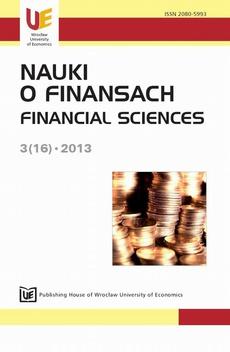 Nauki o Finansach 2013, nr 3(16)