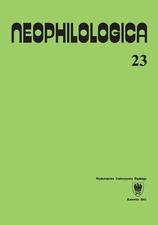 Neophilologica. Vol. 23: Le figement linguistique et les trois fonctions primaires (prédicats, arguments, actualisateurs) et autres études