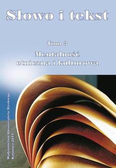 Słowo i tekst. T. 3: Mentalność etniczna i kulturowa - 07 Priedstawlenije o nasiekomych w jazykowom soznanii polakow i russkich