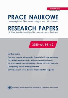 Prace Naukowe Uniwersytetu Ekonomicznego we Wrocławiu 64/2. The iron condor strategy in financial risk management