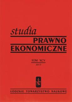 Studia Prawno-Ekonomiczne tom 95