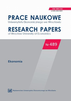 Prace Naukowe Uniwersytetu Ekonomicznego we Wrocławiu nr 489. Ekonomia