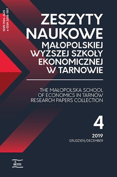 Zeszyty Naukowe Małopolskiej Wyższej Szkoły Ekonomicznej w Tarnowie