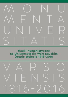 Nauki humanistyczne na Uniwersytecie Warszawskim. Tom 2
