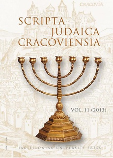 Scripta Judaica Cracoviensia, vol. 11