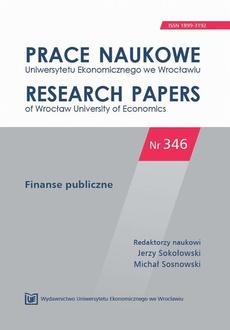 Finanse publiczne. PN 346