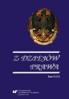 Z Dziejów Prawa. T. 9 (17) - 09 Recenzja, Tomasz Szczygieł