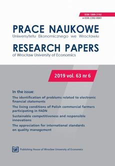Prace Naukowe Uniwersytetu Ekonomicznego we Wrocławiu 63/6. The identification of problems related to electronic financial statements