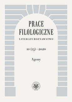 Prace Filologiczne. Literaturoznawstwo 10 (13) 2020