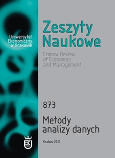 Zeszyty Naukowe Uniwersytetu Ekonomicznego w Krakowie, nr 873. Metody analizy danych