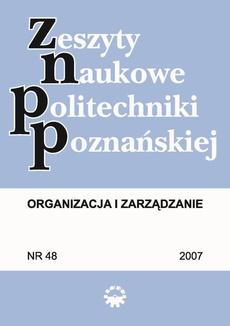 Organizacja i Zarządzanie, 2007/48