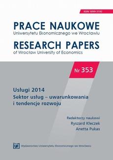 Usługi 2014. Sektor usług – uwarunkowania i tendencje rozwoju. PN 353