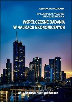 Współczesne badania w naukach ekonomicznych