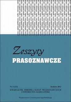Zeszyty Prasoznawcze Nr 3 (211) 2012