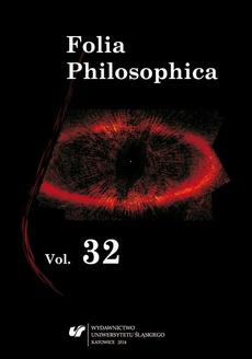 Folia Philosophica. T. 32