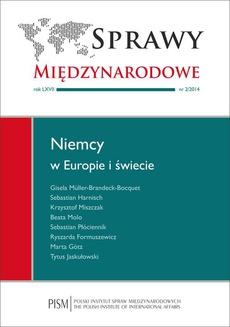 Sprawy Międzynarodowe nr 2/2014 - Międzynarodowa aktywność Niemiec w sferze polityki energetycznej