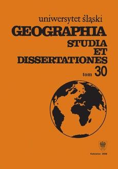 Geographia. Studia et Dissertationes. T. 30