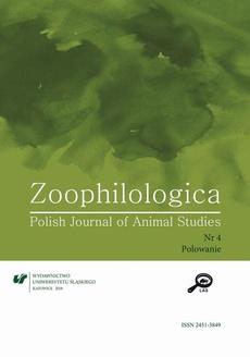 Zoophilologica. Polish Journal of Animal Studies 2018, nr 4: Polowanie