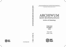Archiwum Kryminologii t. XLII Archives of Criminology