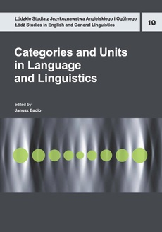 Categories and Units in Language and Linguistics