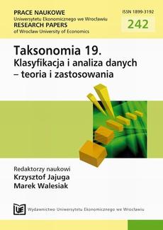 Taksonomia 19. Klasyfikacja i analiza danych - teoria i zastosowania