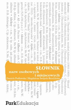 Słownik nazw osobowych i miejscowych