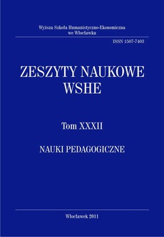 Zeszyty Naukowe WSHE, t. XXXII, Nauki Pedagogiczne