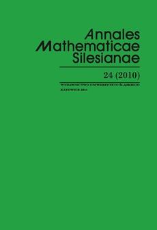 Annales Mathematicae Silesianae. T. 24 (2010)