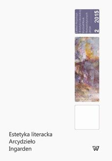 Estetyka literacka Arcydzieło Ingarden