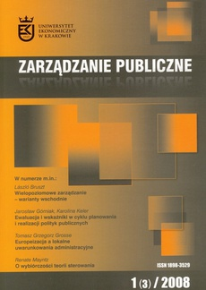 Zarządzanie Publiczne nr 1(3)/2008