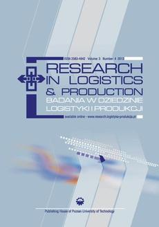 Research in Logistics & Production - Badania w dziedzinie logistyki i produkcji, Vol. 3, No. 4, 2013