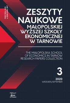 Zeszyty Naukowe Małopolskiej Wyższej Szkoły Ekonomicznej w Tarnowie 3/2020
