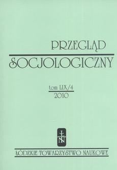Przegląd Socjologiczny t. 59 z. 4/2010