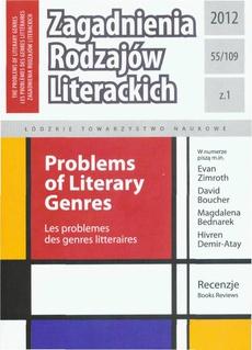 Zagadnienia Rodzajów Literackich t. 55 (109) z.1/2012