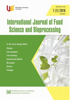 International Journal of Food Science and Bioprocessing 1(1)