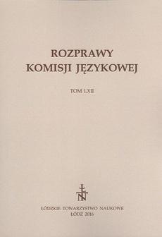 Rozprawy Komisji Językowej t. 62