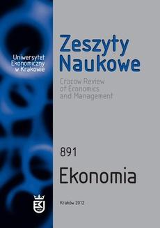 Zeszyty Naukowe Uniwersytetu Ekonomicznego w Krakowie, nr 891. Ekonomia