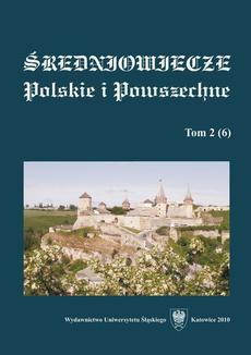 """""""Średniowiecze Polskie i Powszechne"""". T. 2 (6) - 01 Do probłemy politohenezy Wołynśkoji zemli (VI—poczatok X st.)"""