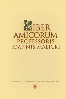 Liber amicorum Professoris Ioannis Malicki - 24 Zapomniany bibliograf pisarzy polskich z 1628 roku Jan Innocenty Petrycy