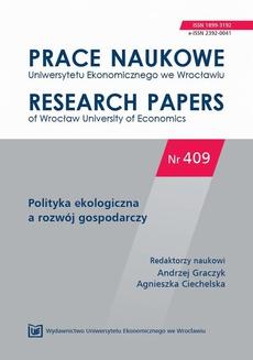 Prace Naukowe Uniwersytetu Ekonomicznego we Wrocławiu nr 409. Polityka ekologiczna a rozwój gospodarczy