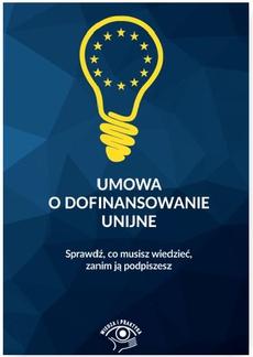 Umowa o dofinansowanie unijne